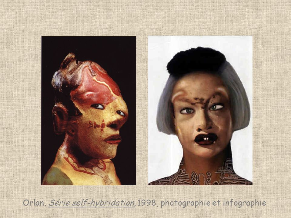 Orlan, Série self-hybridation, 1998, photographie et infographie