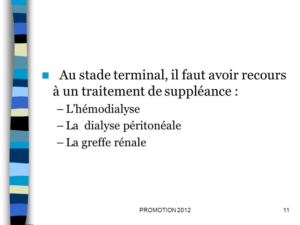 Au stade terminal, il faut avoir recours à un traitement de suppléance :
