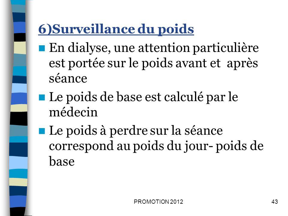 6)Surveillance du poids