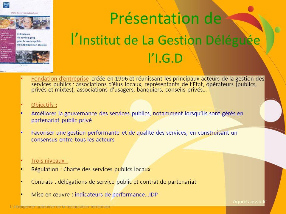 Présentation de l'Institut de La Gestion Déléguée l'I.G.D