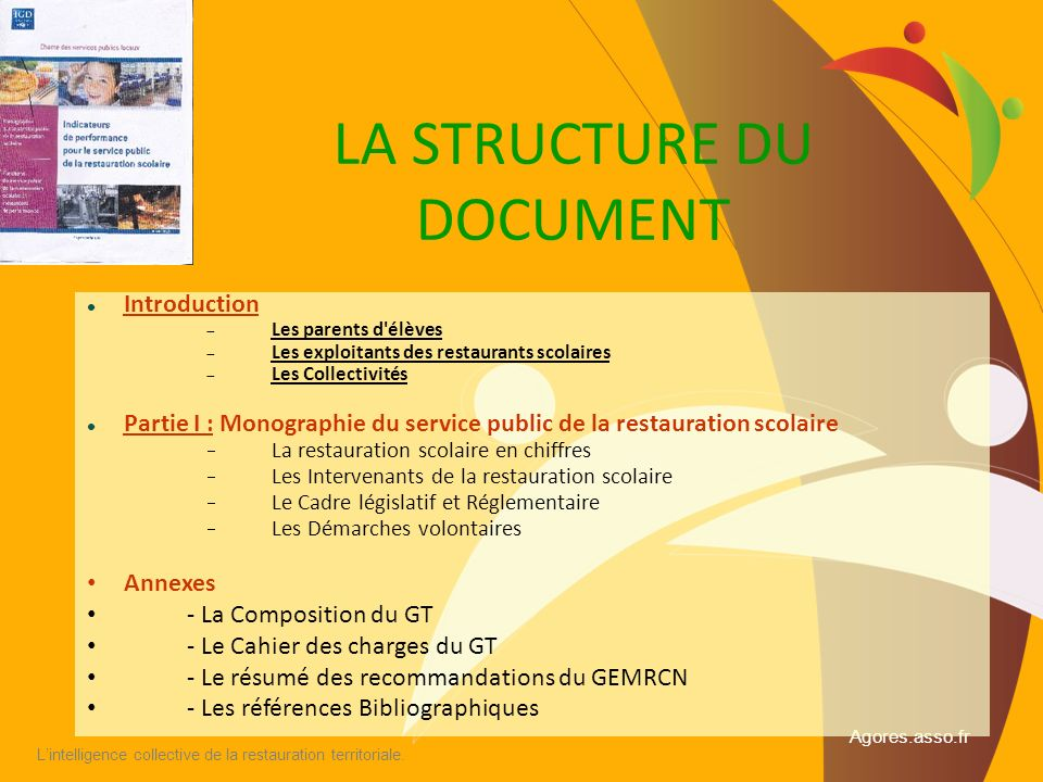LA STRUCTURE DU DOCUMENT