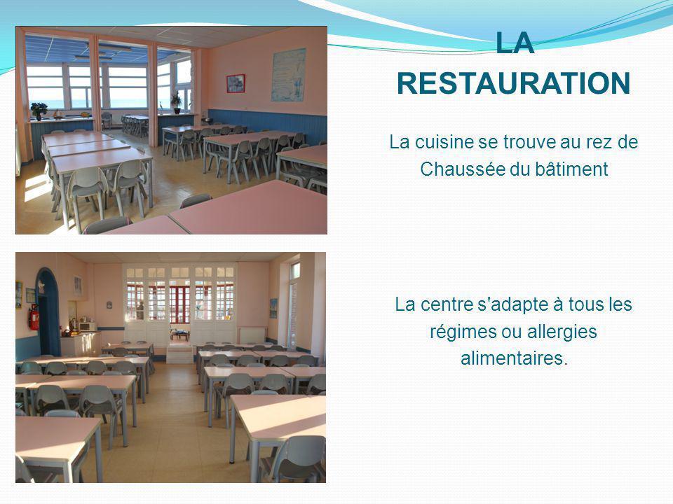 LA RESTAURATION La cuisine se trouve au rez de Chaussée du bâtiment