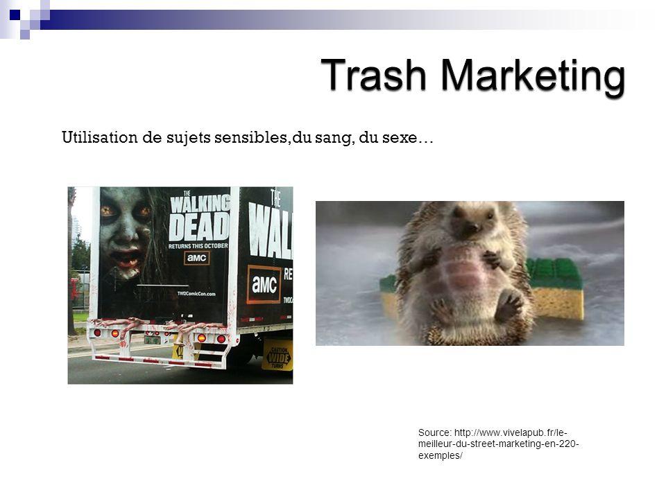 Trash Marketing Utilisation de sujets sensibles,du sang, du sexe…
