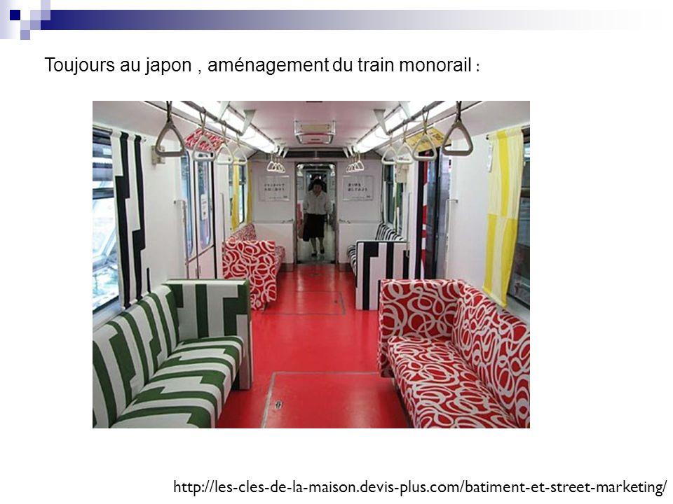 Toujours au japon , aménagement du train monorail :