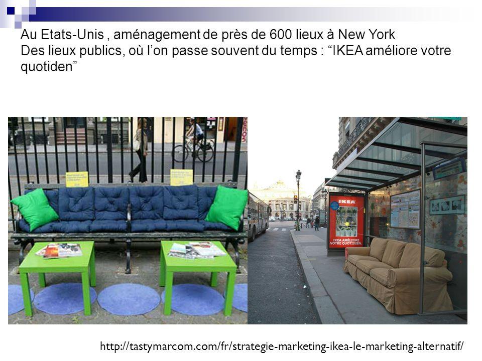 Au Etats-Unis , aménagement de près de 600 lieux à New York