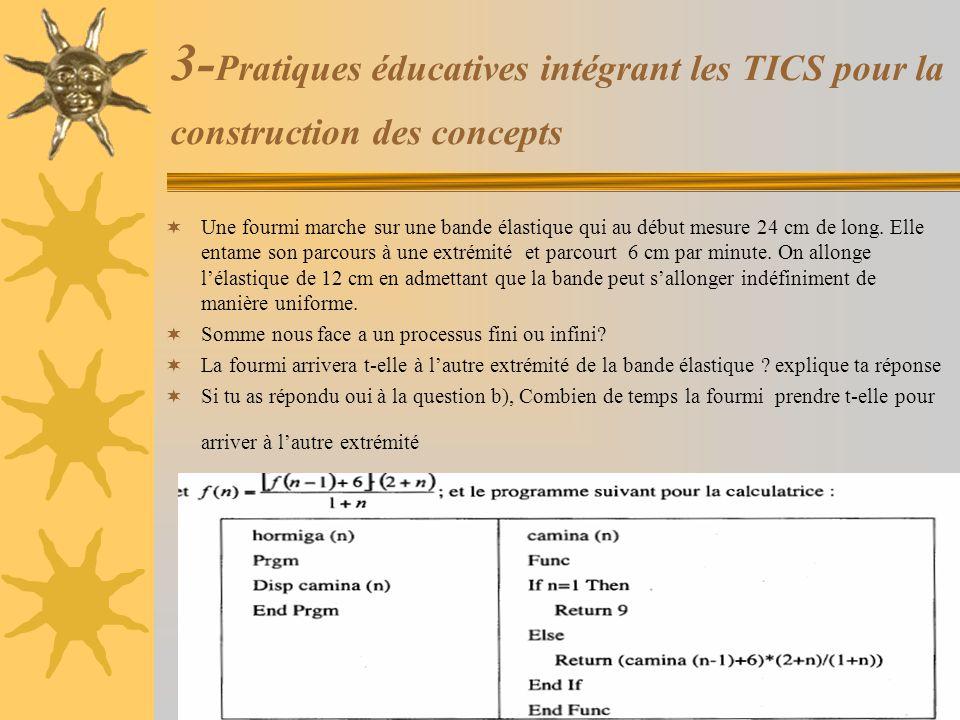3-Pratiques éducatives intégrant les TICS pour la construction des concepts