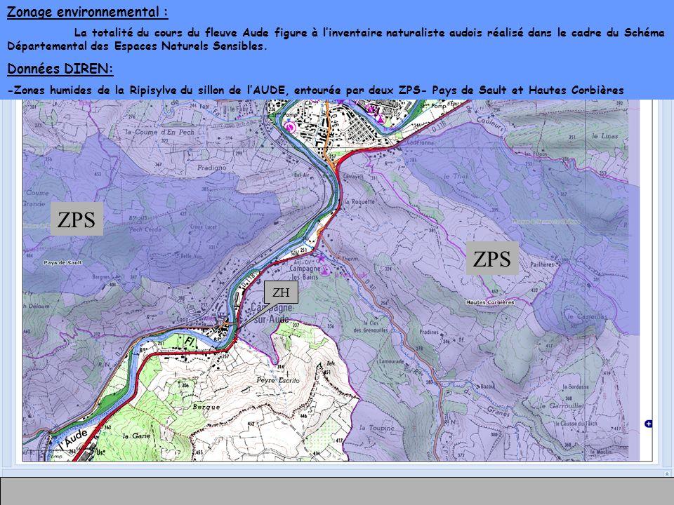 ZPS ZPS Zonage environnemental : Données DIREN: ZH