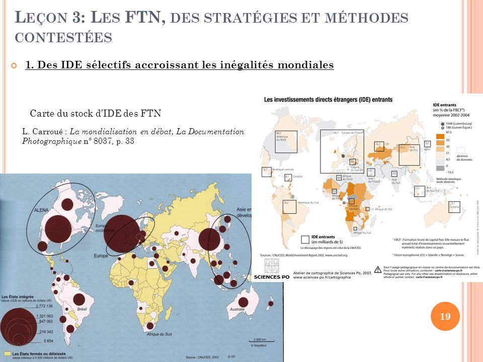Leçon 3: Les FTN, des stratégies et méthodes contestées