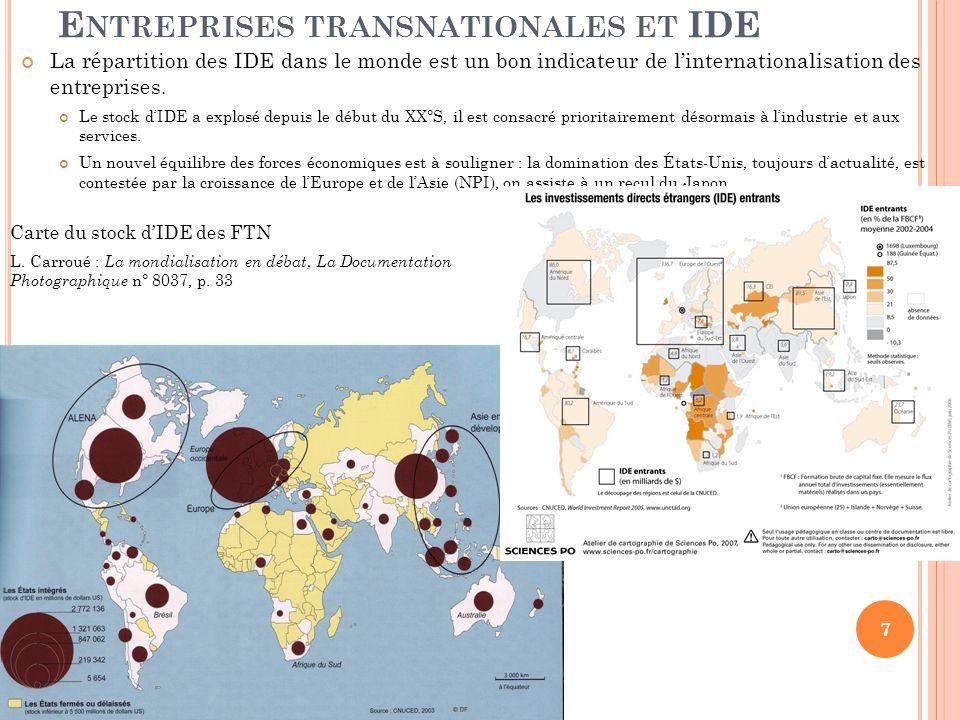 Entreprises transnationales et IDE
