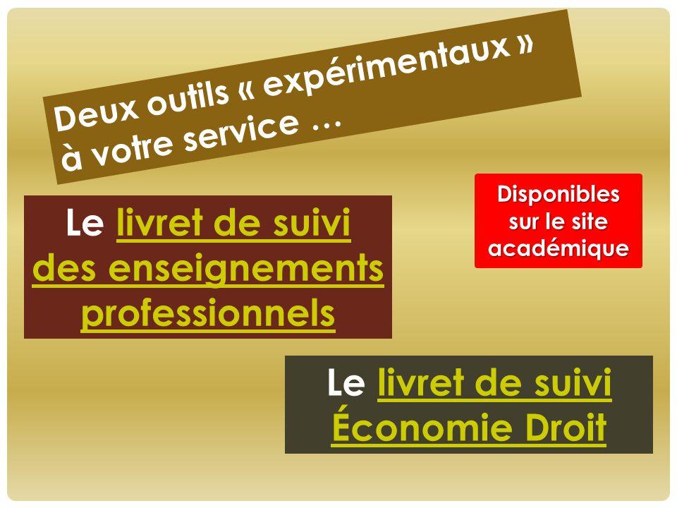 Disponibles sur le site académique des enseignements professionnels