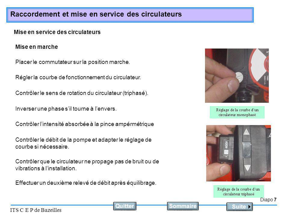 Mise en service des circulateurs