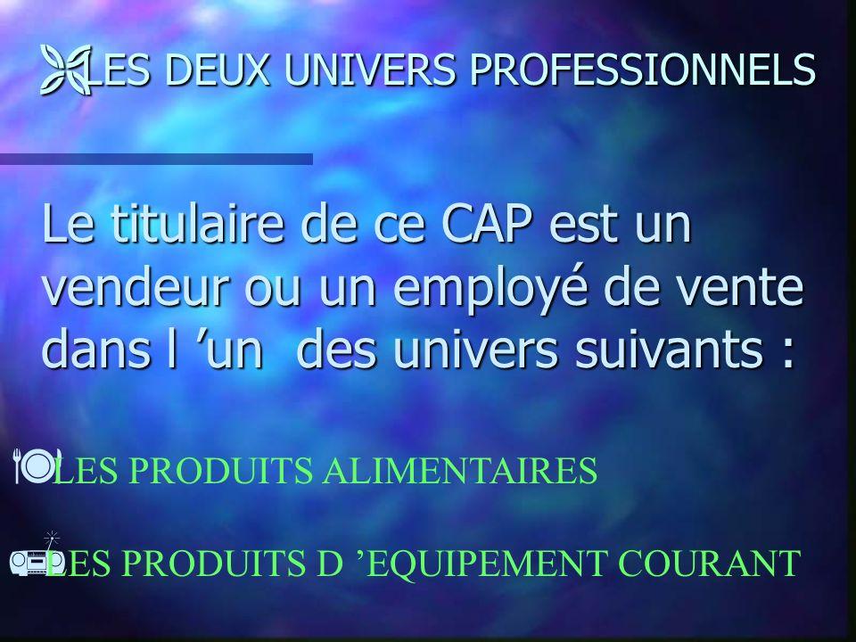 LES DEUX UNIVERS PROFESSIONNELS