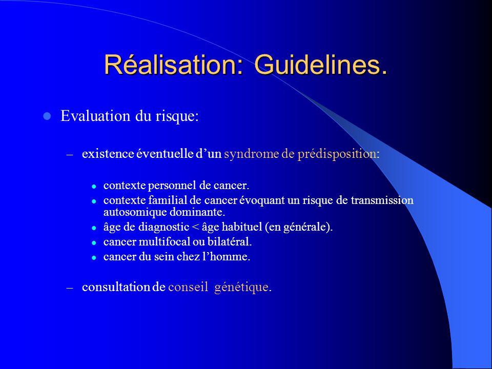 Réalisation: Guidelines.