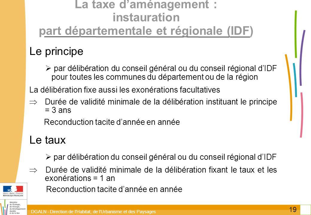 La taxe d'aménagement : instauration part départementale et régionale (IDF)