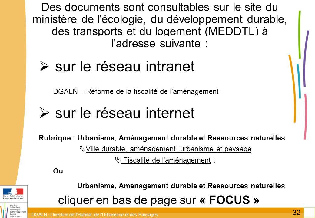 sur le réseau intranet sur le réseau internet