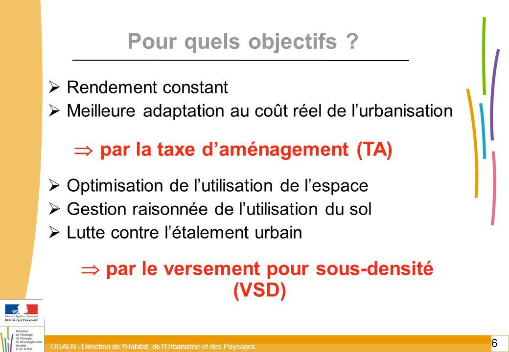  par le versement pour sous-densité (VSD)