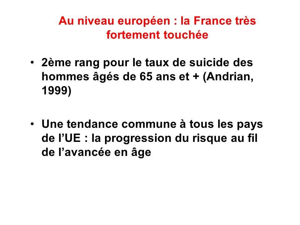Au niveau européen : la France très fortement touchée