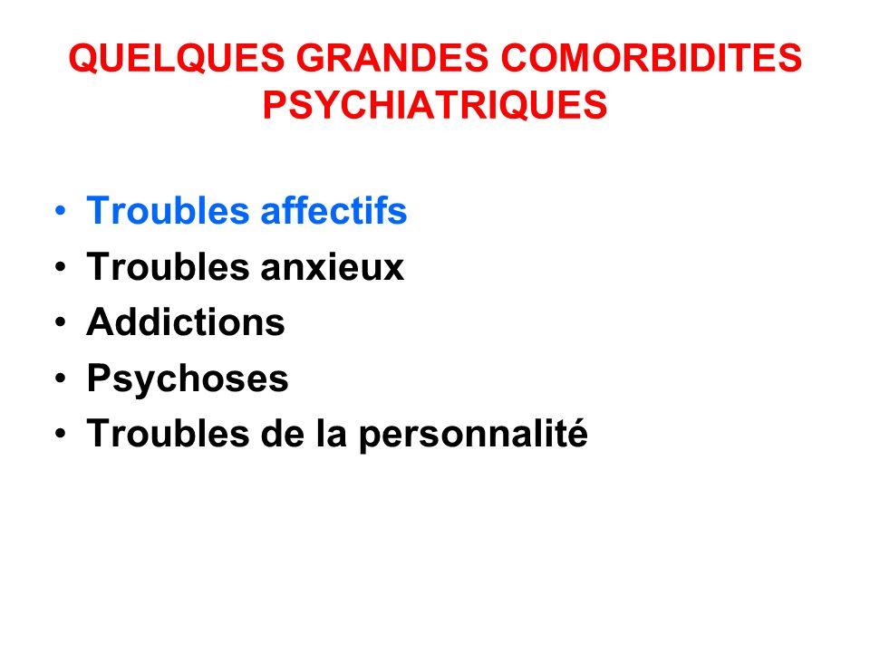 QUELQUES GRANDES COMORBIDITES PSYCHIATRIQUES