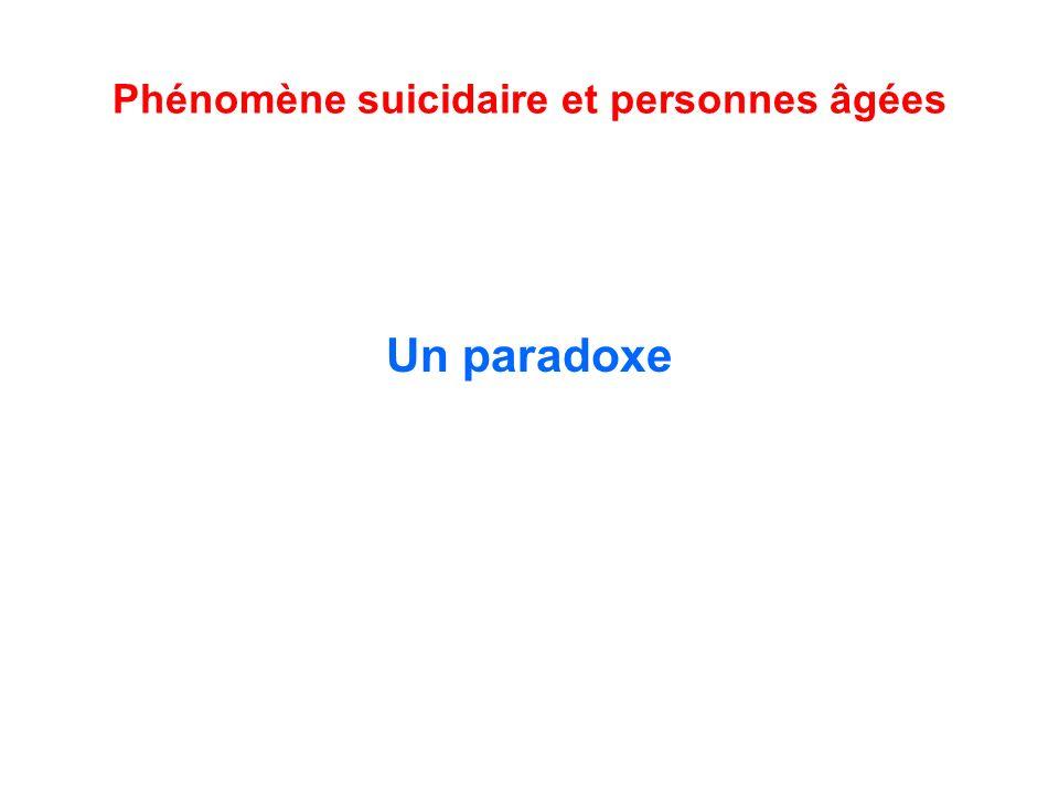 Phénomène suicidaire et personnes âgées