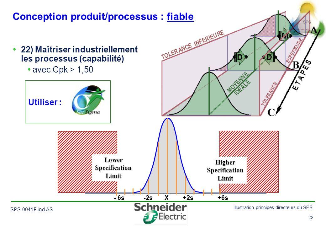 Conception produit/processus : fiable
