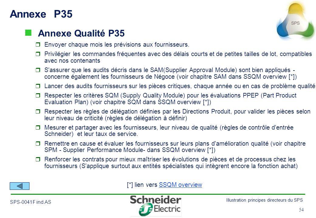 Annexe P35 Annexe Qualité P35