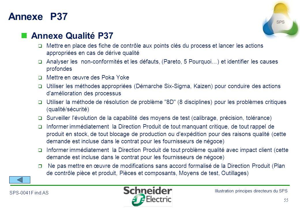 Annexe P37 Annexe Qualité P37