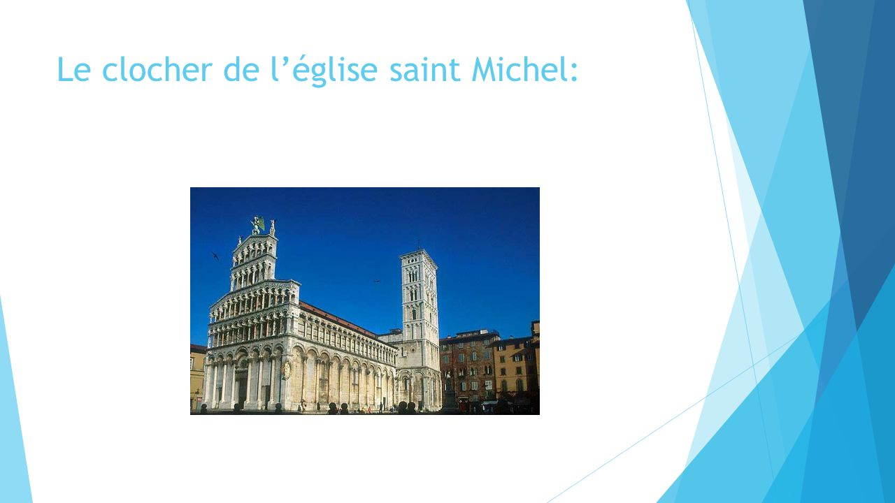 Le clocher de l'église saint Michel: