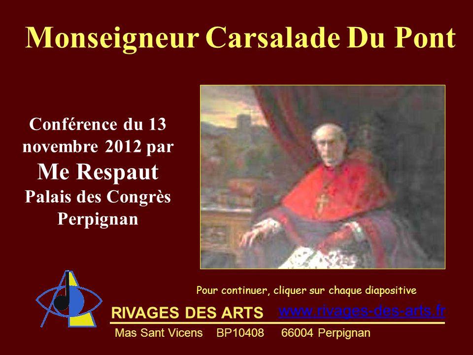 Monseigneur Carsalade Du Pont Conférence du 13 novembre 2012 par