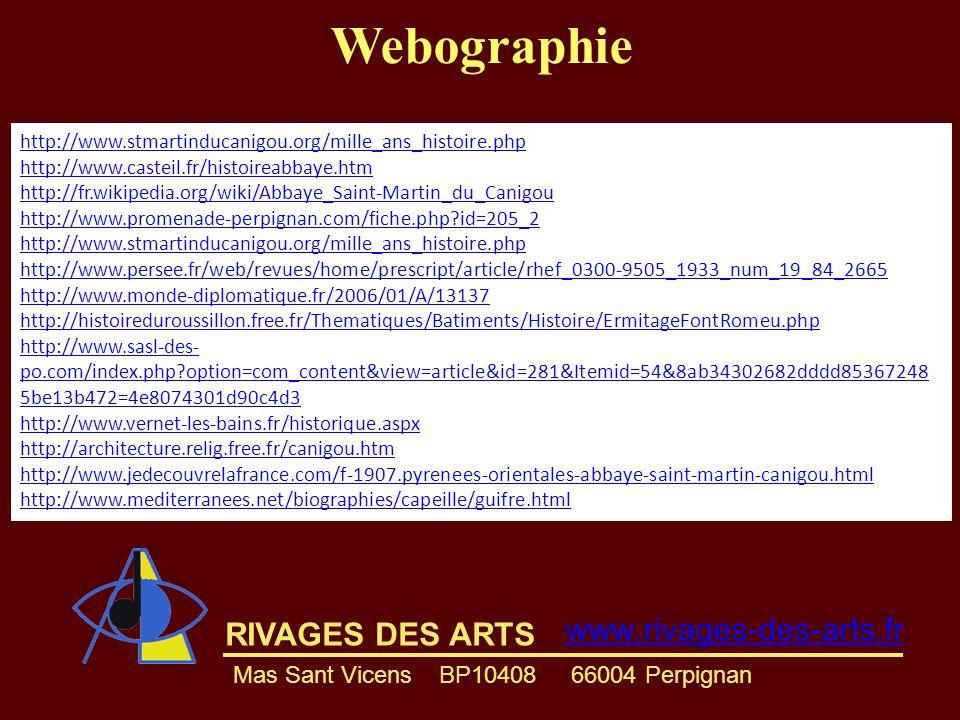 Webographie www.rivages-des-arts.fr RIVAGES DES ARTS