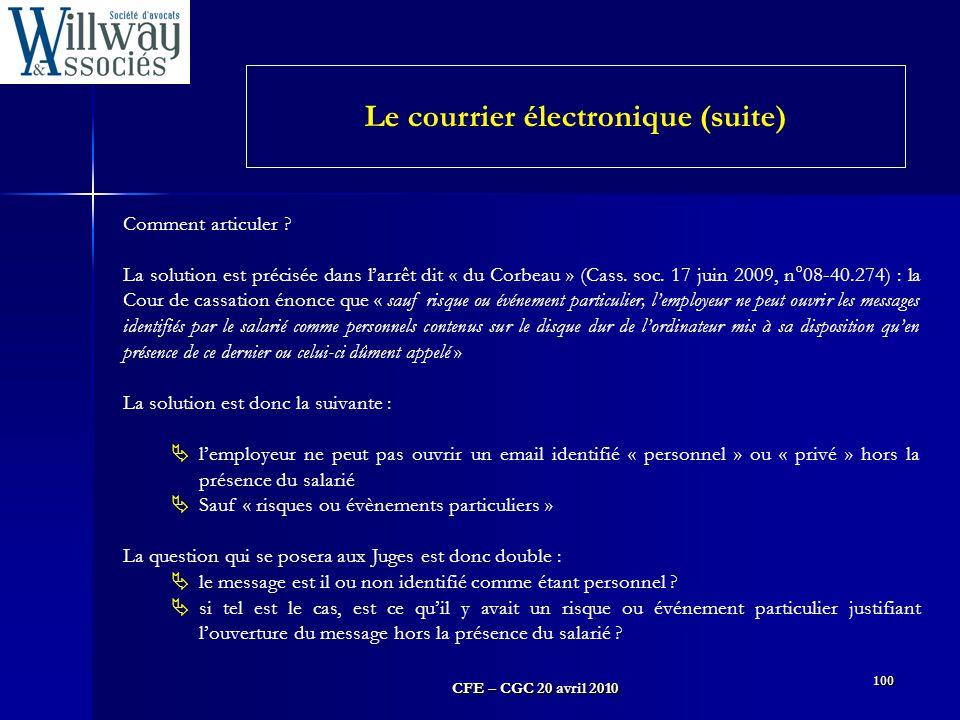 Le courrier électronique (suite)