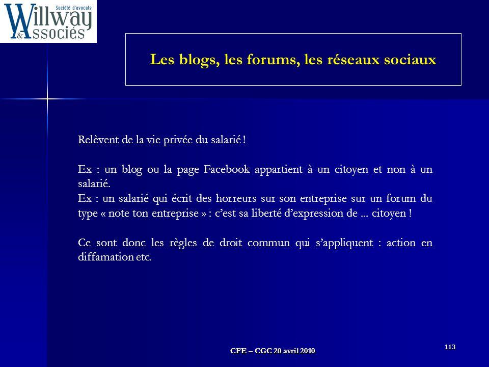 Les blogs, les forums, les réseaux sociaux