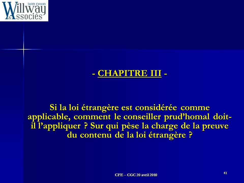 - CHAPITRE III -