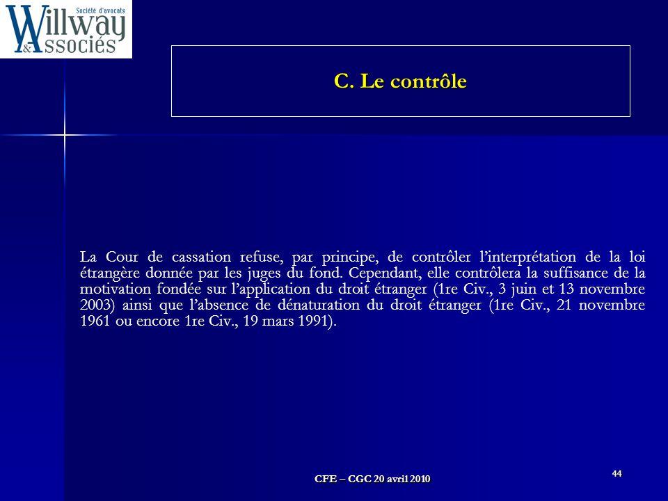 C. Le contrôle
