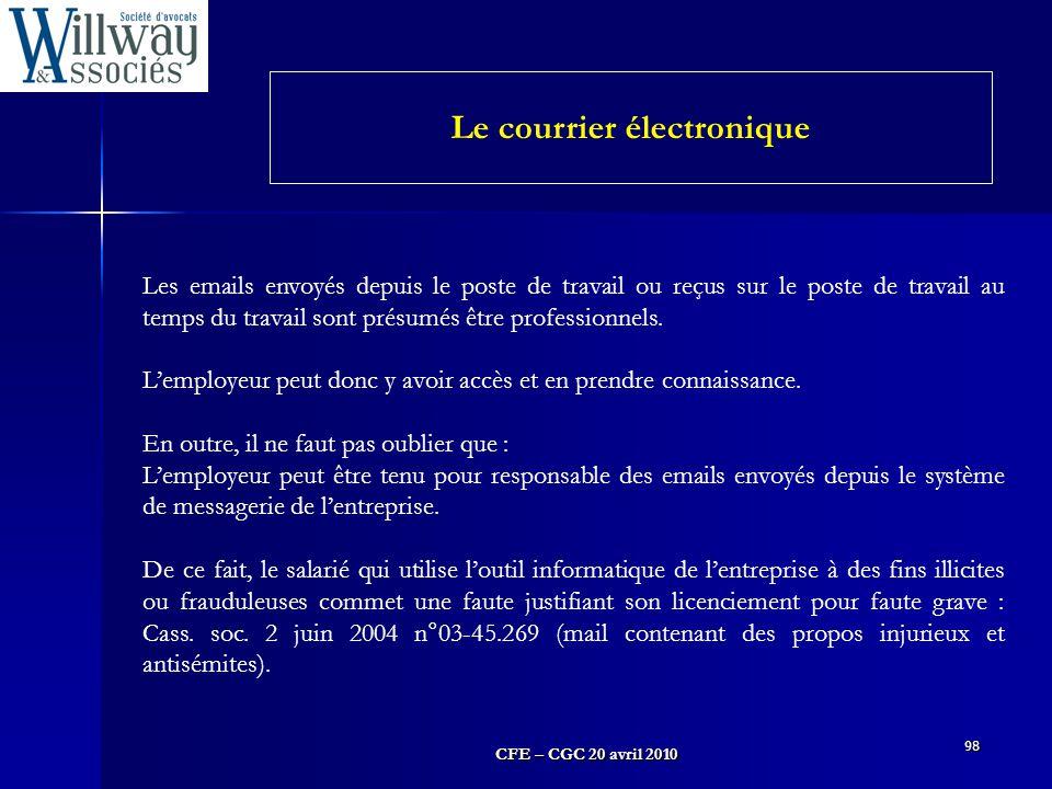 Le courrier électronique