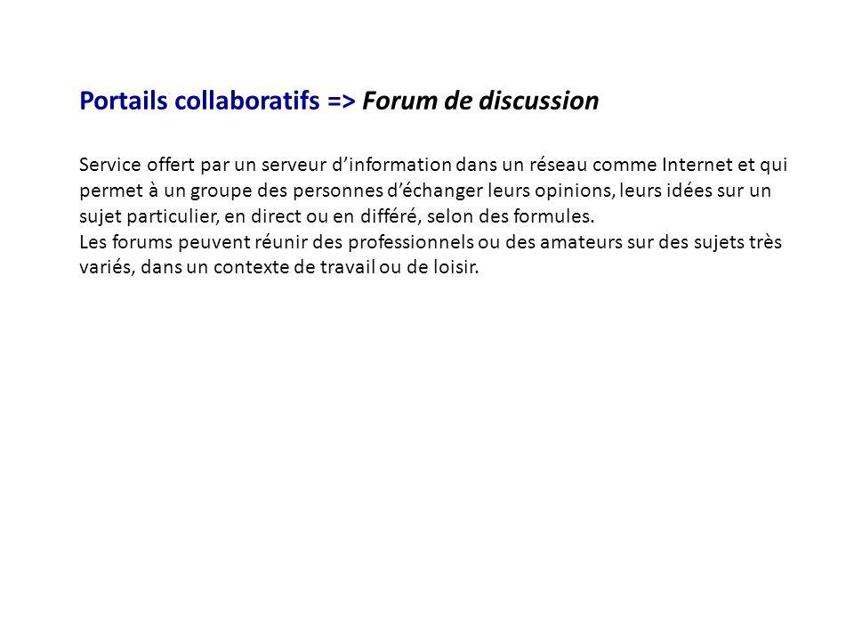 Portails collaboratifs => Forum de discussion