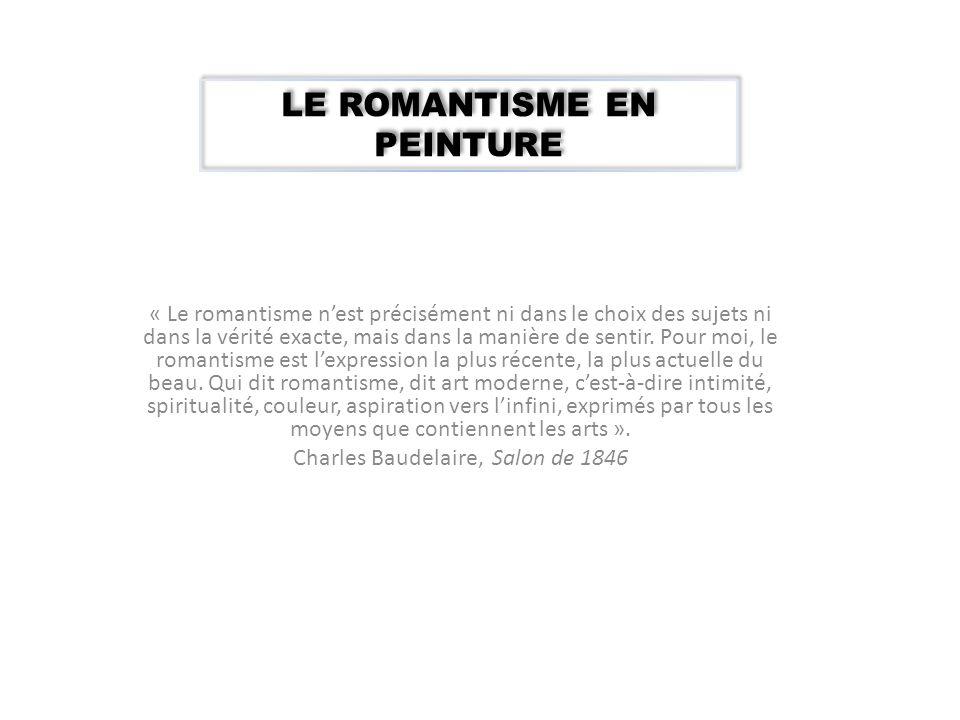 LE ROMANTISME EN PEINTURE
