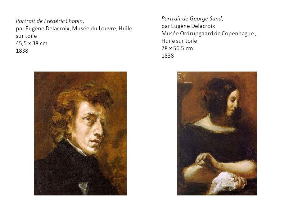 Portrait de George Sand, par Eugène Delacroix
