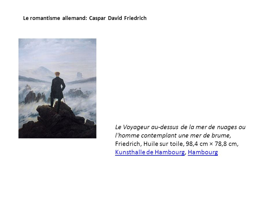 Le romantisme allemand: Caspar David Friedrich