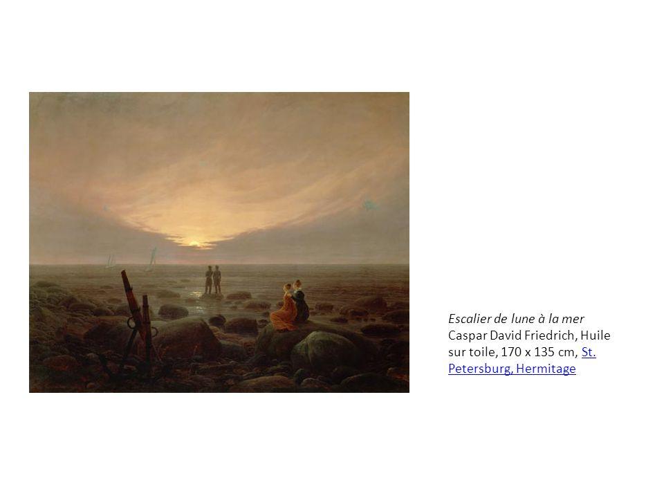 Escalier de lune à la mer Caspar David Friedrich, Huile sur toile, 170 x 135 cm, St.