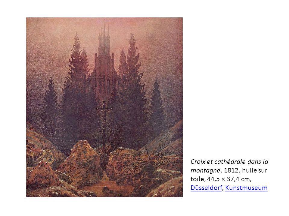 Croix et cathédrale dans la montagne, 1812, huile sur toile, 44,5 × 37,4 cm, Düsseldorf, Kunstmuseum