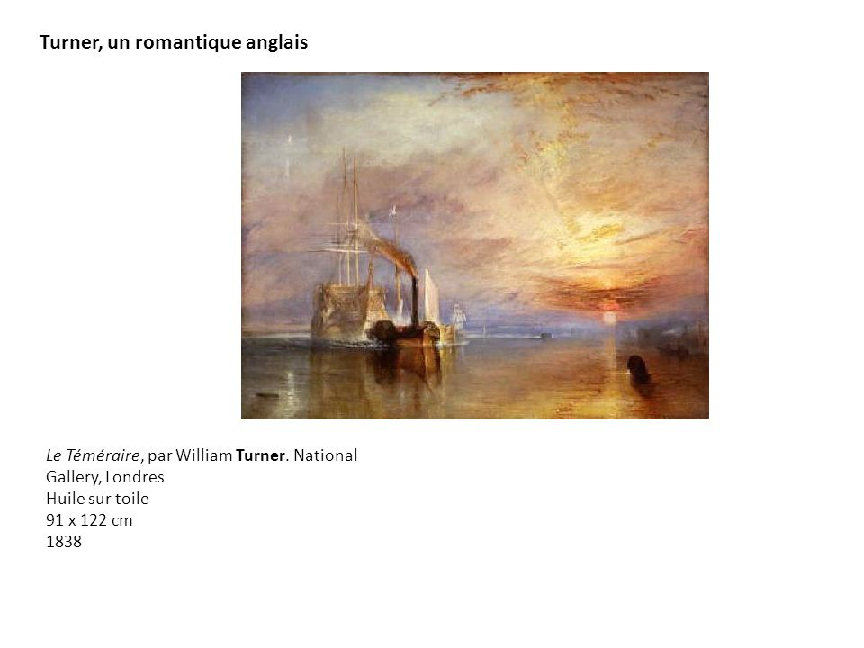 Turner, un romantique anglais