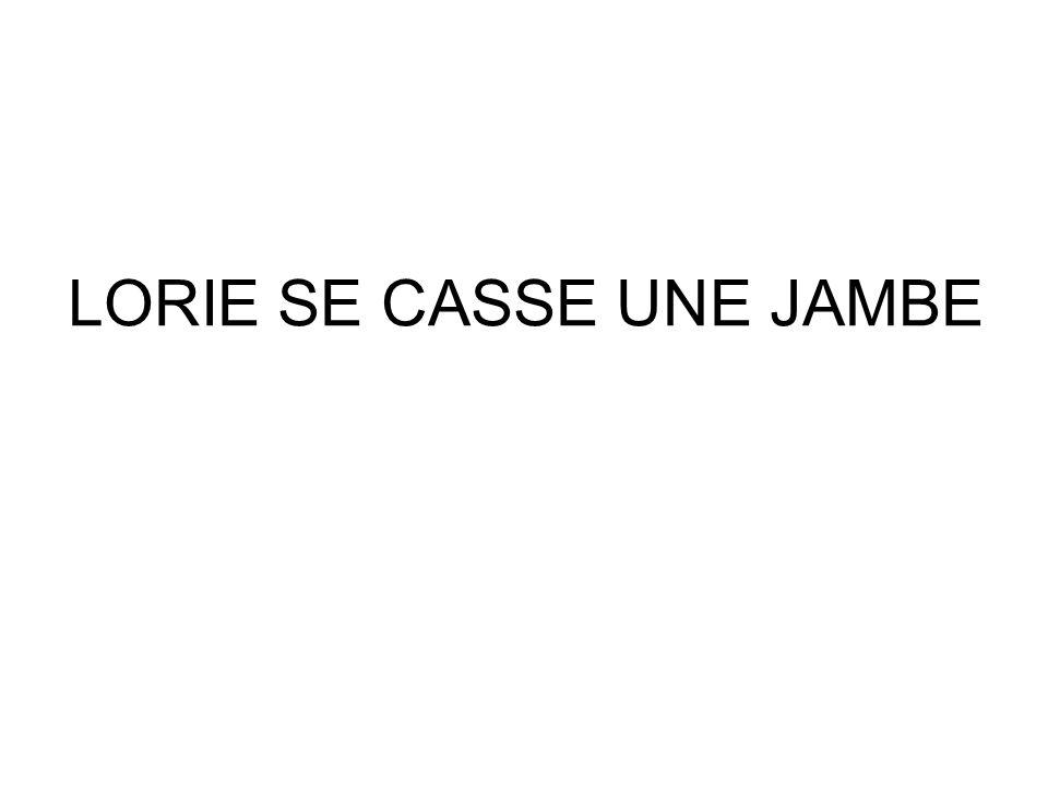 LORIE SE CASSE UNE JAMBE