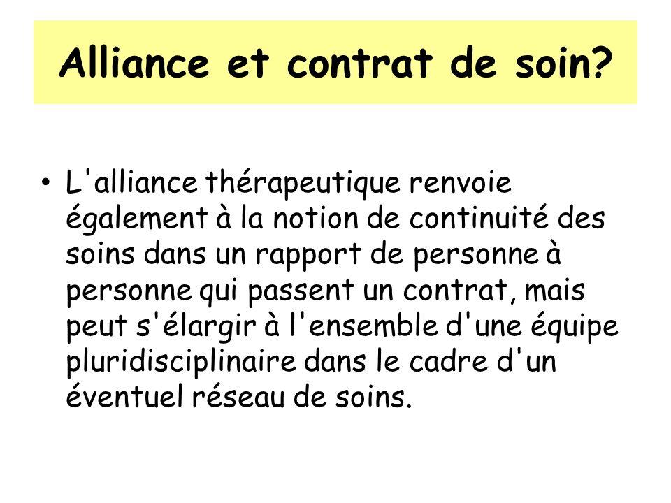Alliance et contrat de soin