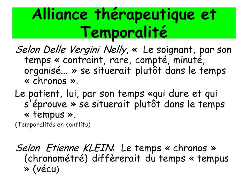 Alliance thérapeutique et Temporalité