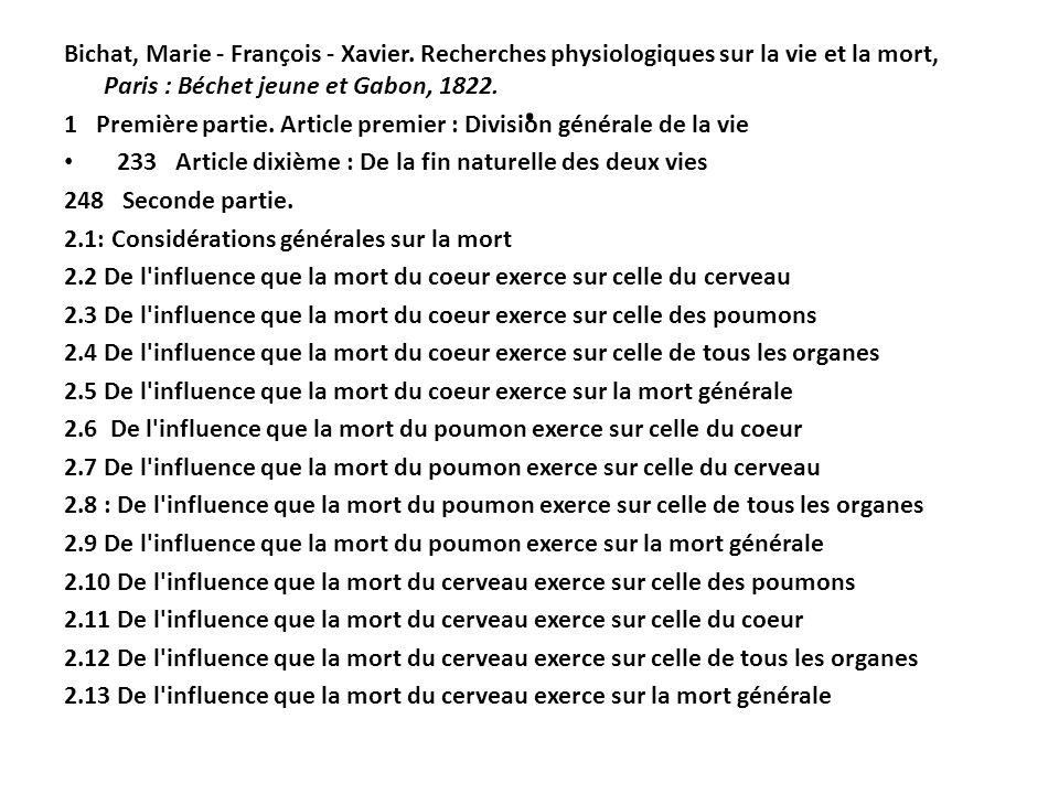 Bichat, Marie - François - Xavier