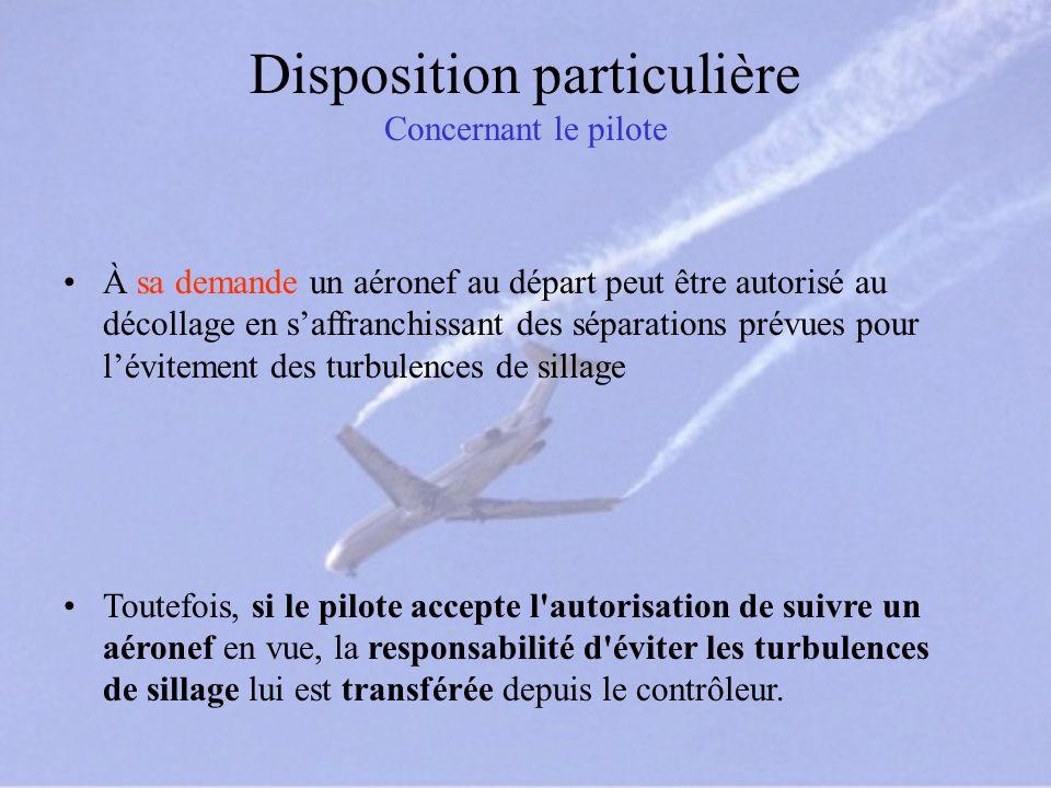 Disposition particulière Concernant le pilote