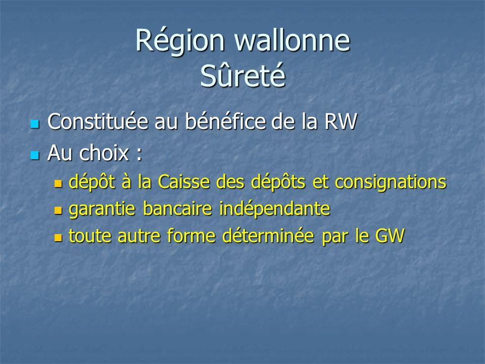 Région wallonne Sûreté