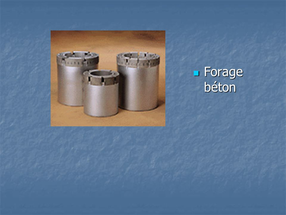 Forage béton