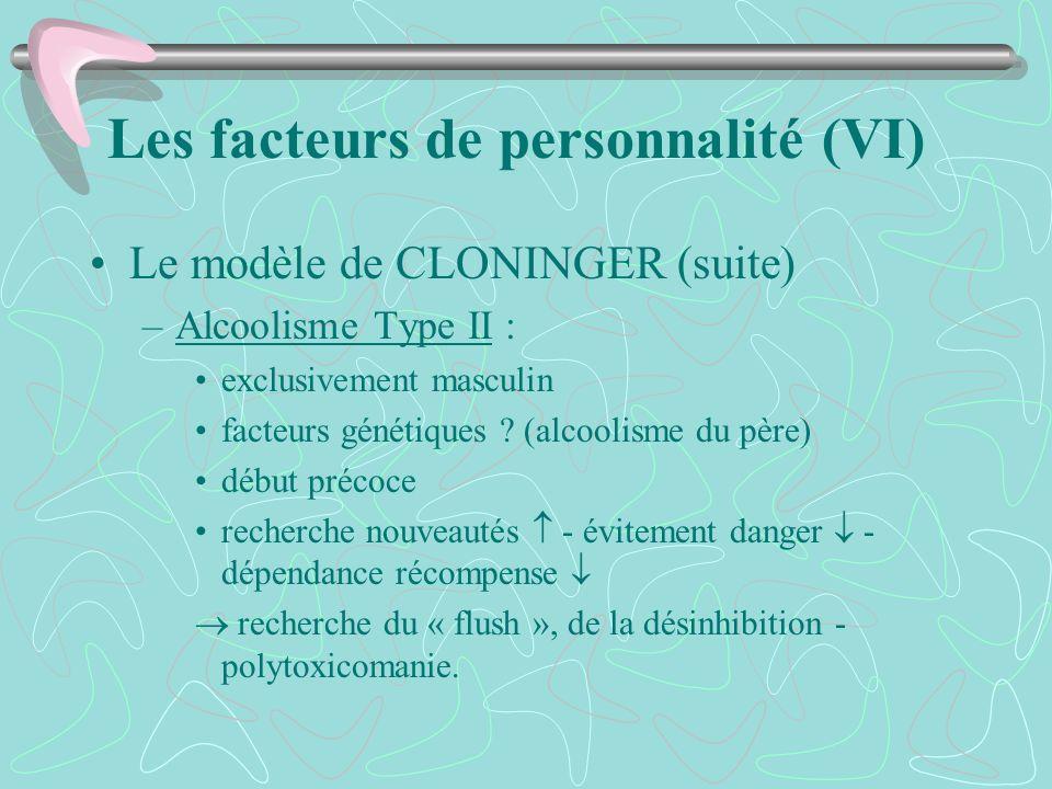 Les facteurs de personnalité (VI)