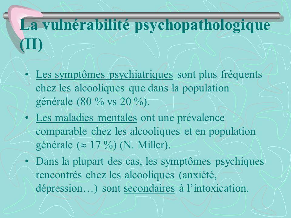 La vulnérabilité psychopathologique (II)